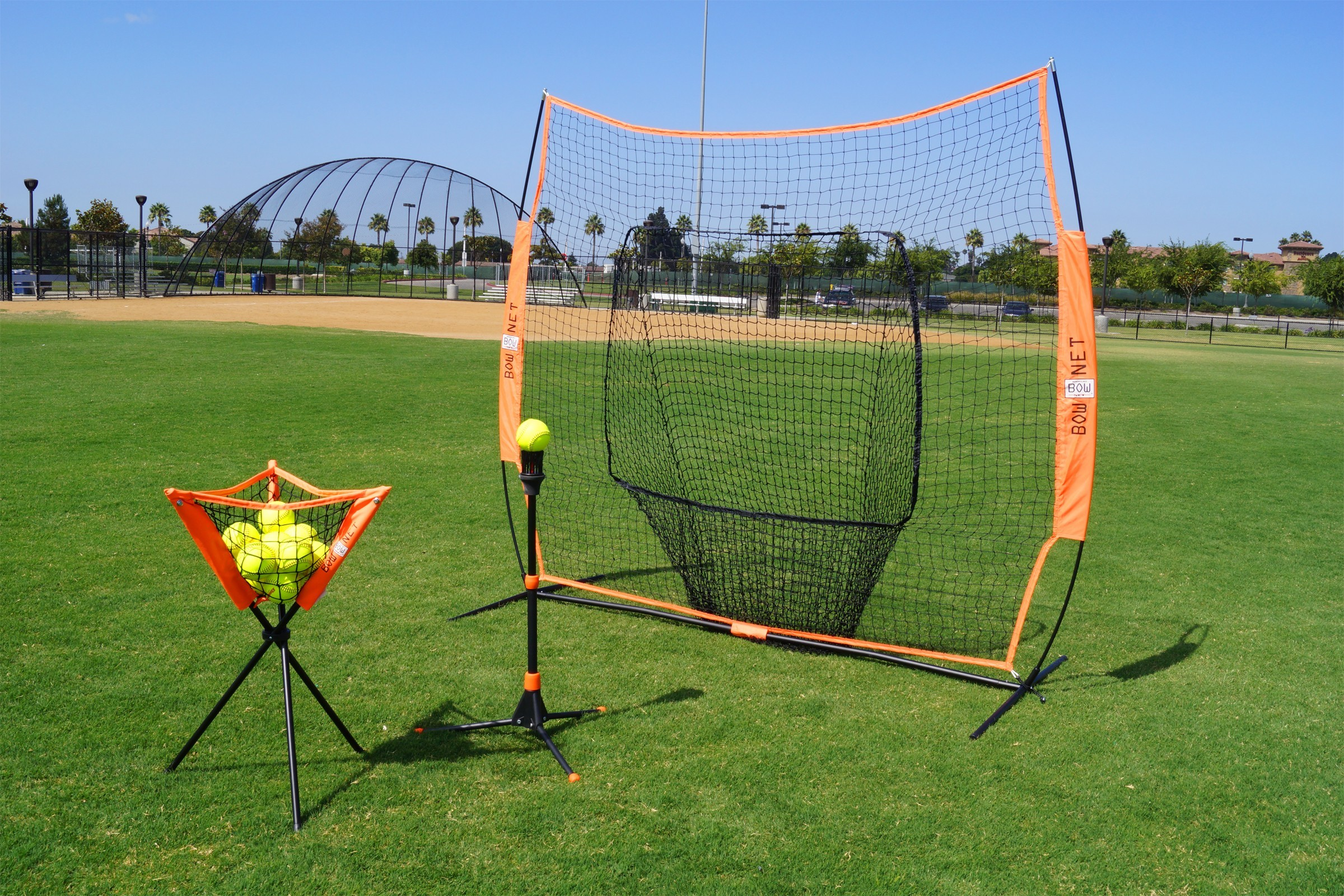 Bownet Bownet Batting Practice Bownet Baseball//Softball Big Mouth Portable Net
