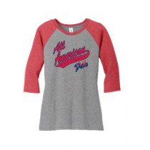 AAB Lady's Baseball Undershirt w/ Fan
