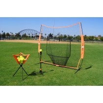 Bownet Big Mouth Portable Baseball/Softball Net w/ BP Caddy & UtilliTee