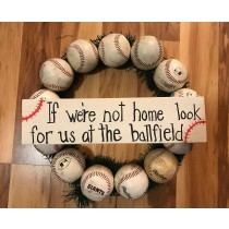 Custom Baseball Wreaths